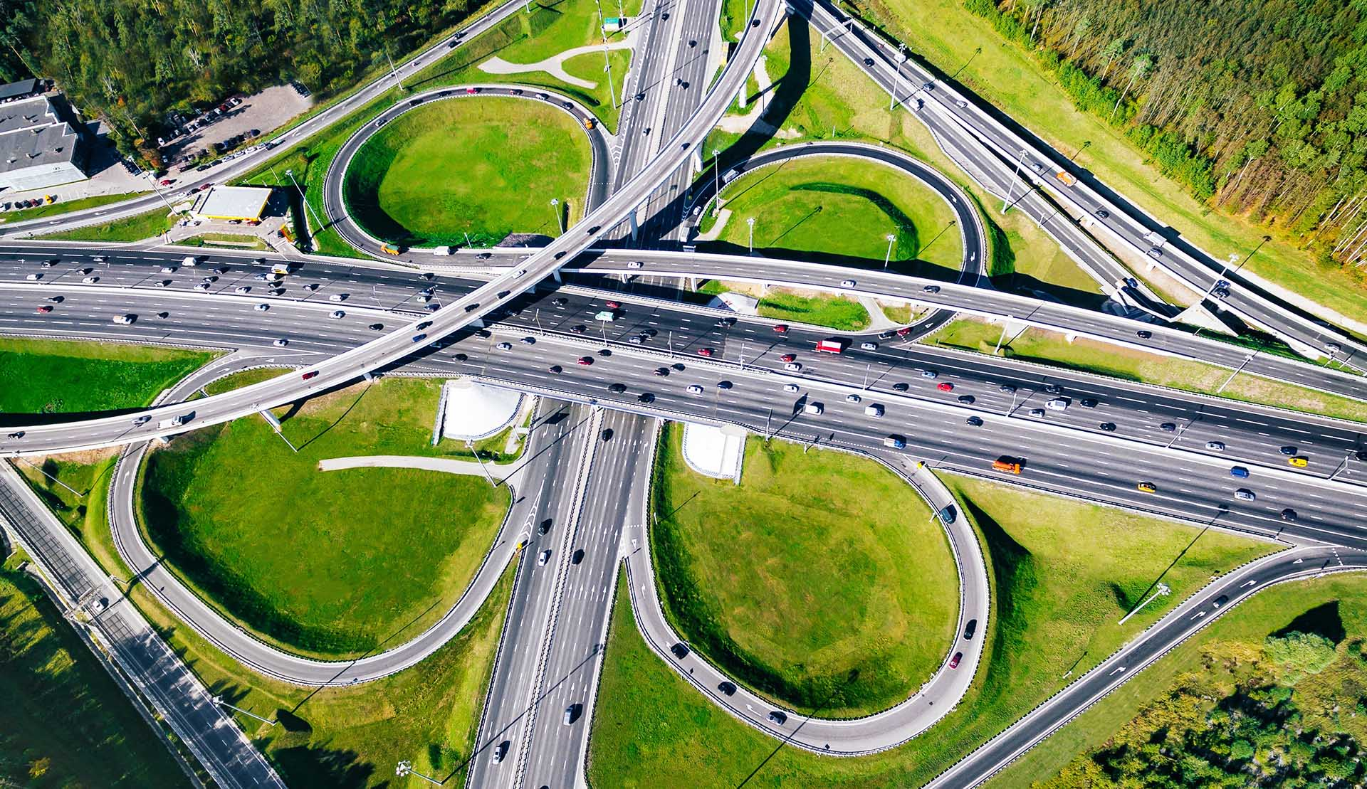 Aerial view of highway ExyPro